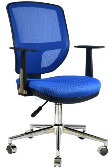 2051A0542 - Bürocci Eva Metal Ayaklı Çalışma Koltuğu - Mavi