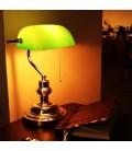 Banker Masa Lambası 1.Kalite Yeşil Camlı