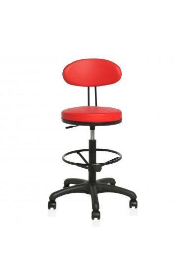 Ofisel Stig Sırtlı Bar Sandalyesi, Bar Taburesi, Kasiyer Koltuğu Çemberli Tabure 2999
