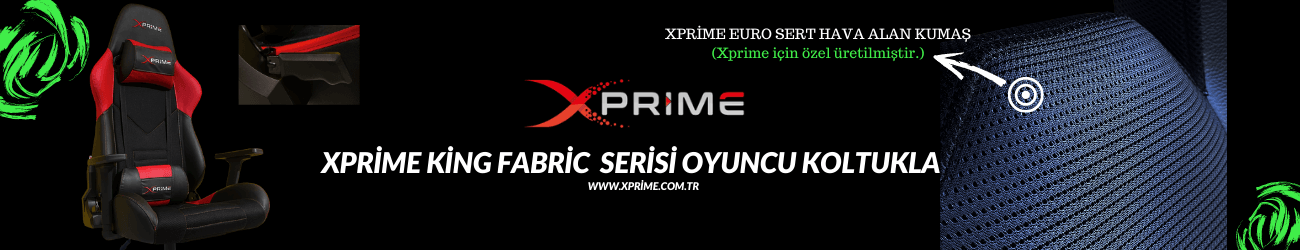 Xprime King Fabric Oyuncu Koltuğu (Terletmez) Resmi Satış Sitesi