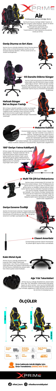 Air Oyuncu Koltuğu özellikleri