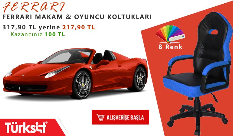 Türksit Ferrari Koltuk Modelleri
