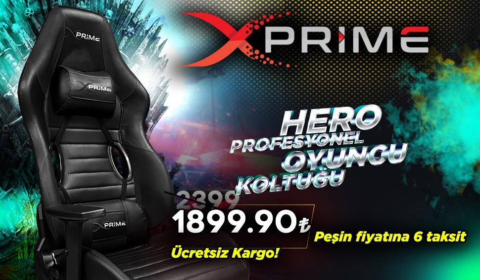 Xprime Hero Profesyonel Oyuncu Koltuğu Burada, Kampanyalı