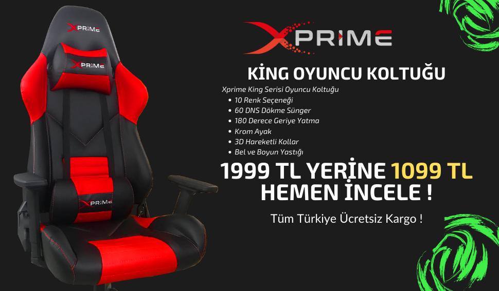 XPrime Oyuncu Koltukları Modellerinde Kampanya
