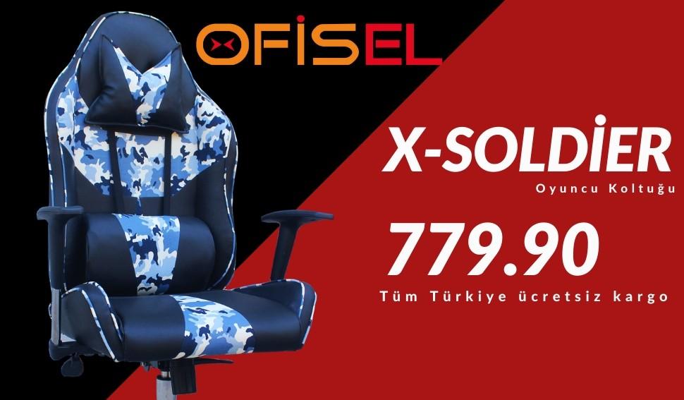 X-Soldier Oyuncu Koltuğu Kamuflaj Desenli Oyuncu Koltukları